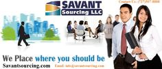 Savant Sourcing Temporary #Placement #Agencies in #Los #Angeles offers career placement services for contract workers, temporary jobs, and direct hire. Let us help you with career placement! For more info visit now http://goo.gl/x1xbS6