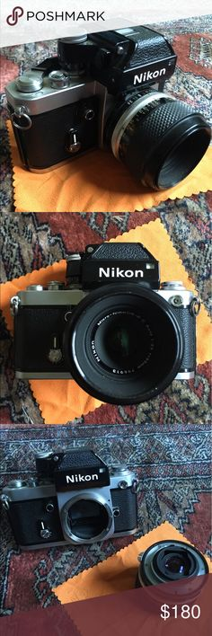 EUC Nikon f2 55mm lens Vintage Nikon f2 in amazing condition comes with 55 mm lense. Feel free to ask any questions. Great price. Make reasonable offer or bundle for discount. I do 15% off bundles of 2 or more, so really add anything and you'll see a big discount. nikon Accessories