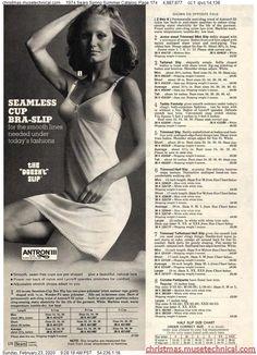 1974 Sears Spring Summer Catalog, Page 174 - Christmas Catalogs & Holiday Wishbooks Mini Slip, Vintage Advertisements, Vintage Ads, Christmas Catalogs, Vintage Lingerie, Mini Shorts, Vintage Fashion, Spring Summer, Holiday