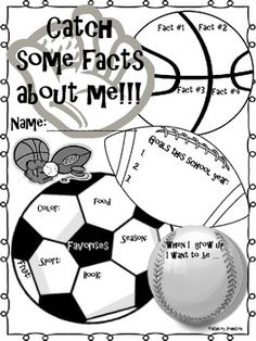 Back to School All about Me posters and Icebreakers are a fun way for your students to share about themselves and get to know their classmates. All about Me Sports Theme Back to SchoolBack to School Bundle