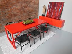 PRD Miniatures Red Strut Dining Table