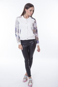 Bomber Jacket, Coats, Floral, Jackets, Collection, Women, Fashion, Down Jackets, Moda