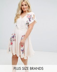 f48fd25e376 River Island Embroidered Dress Plus Size Womens Clothing
