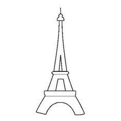 Printable Eiffel Tower Coloring