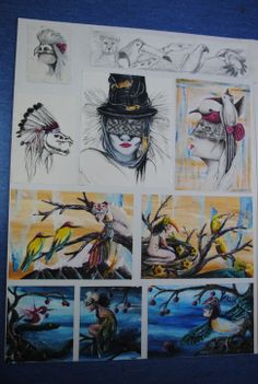 Mahurangi College Y13, Board 1 2012 New Zealand Art, Art Portfolio, Cambridge, Boards, Batman, College, Student, Superhero, Painting