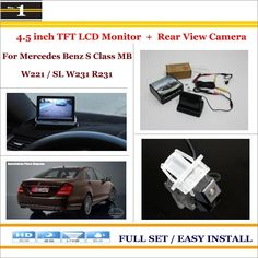 """For Mercedes Benz S Class MB W221 SL W231 R231 - 4.3"""" TFT LCD Monitor + Car Rearview Back Up Camera = 2 in 1 Car Parking System"""