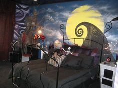 This would be a awesome bedroom.!  #nightmarebeforechristmas