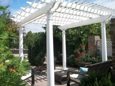 A beautiful day for a pergola I cant wait until spring! Vinyl Pergola, Beautiful Day, Outdoor Structures, Cant Wait, Spring