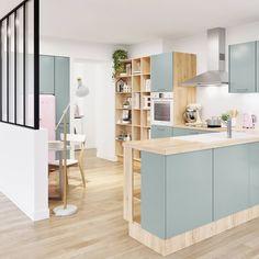 Inspirante & Mate   #cuisineTEMOE #kitchen #cuisine #Signature #deco #decoration #instadeco #rose #home #tendance #grey #verriere #homesweethome #interiordecor #decor #smeg #interiordesign #green #magasinsbut #but