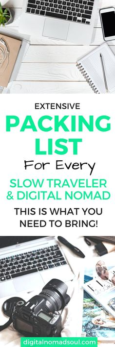 You are about to go on a long trip around the world, want to start a digital nomad life or simply travel around for a bit? Check out this comprehensive packing list with everything you need to pack before you leave. Be organized and travel better!