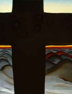 Georgia O'Keefe - The Black Cross - I just didn't get it until I saw in person. And now cannot forget it.