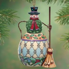 Jim Shore Snowman Ornament