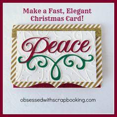 Make an Anna Griffin Cricut Winter Wonderland Peace Christmas Card!