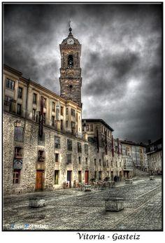 Vitoria-Gasteiz Bilbao, Basque Country, Kirchen, Plaza, San Francisco Ferry, Scenery, Spain, Building, Google