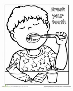 Preschool Life Learning Worksheets: Words To Live By: Brush Your Teeth