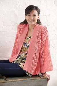 Caron International   Free Project   Bright & Breezy Kimono