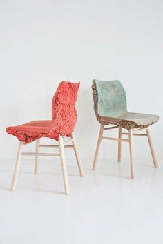 well proven chairs - So much waste goes into making furniture, and designers James Shaw and Marjan van Aubel have found a way to reuse the waste by creating their Well ...