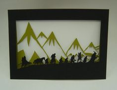Lord of the Rings papercut. One Ring to rule them all, One Ring to ...