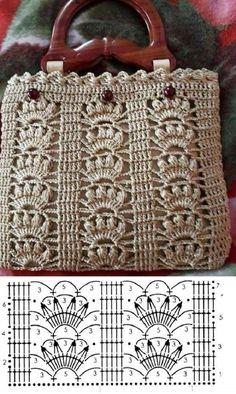 Crochet Market Bag, Crochet Tote, Crochet Handbags, Crochet Chart, Crochet Purses, Crochet Amigurumi, Free Crochet, Crochet Bag Tutorials, Crochet Projects