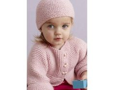 Strawberry Pink Sideways Cardigan And Hat Pattern