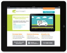 Website design by Raison—Current is an estimating app for mobile contractors.