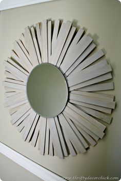 DIY sunburst mirror Ballard knock off- I think this would be cute in our bedroom- a little smaller though.