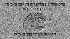 President Trump Unveils Meme War Memorial