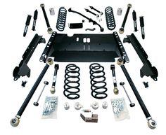 """TERAFLEX TJ 4"""" Enduro LCG Lift Kit w/ 9550 Shocks - SKU: 1249472"""