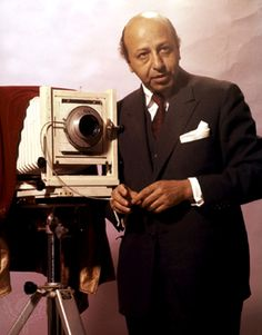 Yousuf Karsh with his large format camera