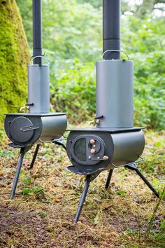 Portable woodstove folds down, heats up tents, yurts & tiny homes