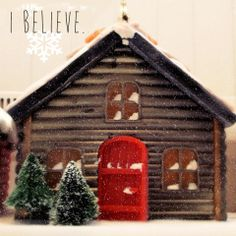 Believe by Ast Products. Believe and you will receive. The true meaning of Christmas! Handmade Soap Houses in Christmas mood.