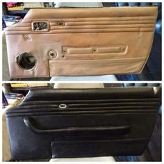 Before and after door panel reupholstery Car Seat Upholstery, Smart Car, Panel Doors, Car Seats, Classic Cars, Trucks, Vintage Classic Cars, Truck, Classic Trucks