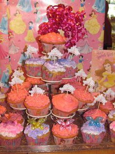 Princess Birthday cupcakes Princess Birthday Cupcakes, Ballerina Birthday Parties, Fairy, Treats, Crafty, Holiday, Desserts, Recipes, Food