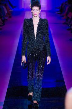 Armani Privé Fall 2015 Couture Fashion Show - Josephine Le Tutour (Elite)