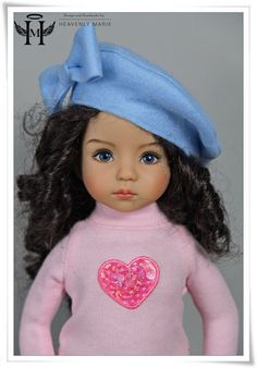 "[Effner] Felt Beret Hat | 13"" Little Darling Outfit Clothes by HM #HeavenlyMarie"