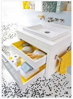 Decorating: Painting inside of drawers contrasting color. A nice surprise and added interest