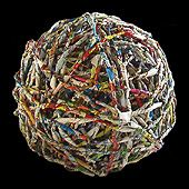 Paper ball and photo by Ivano Vitali