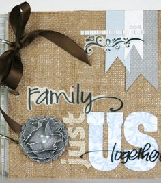 A burlap family album is a unique way to showcase your memories!  Personalize it for a great gift!  #creativitymadesimple