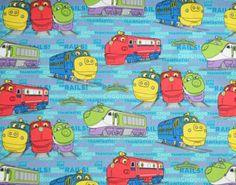 "Yard - Chuggington Train Station ""Let's Ride the Rails!"" on Blue Cotton Fabric - Officially Licensed (Great. Chuggington Birthday, Monogram Sweatshirt, Disney Junior, 2nd Birthday, Birthday Ideas, Train Station, Birthday Shirts, Christmas Sweaters, Sweaters For Women"