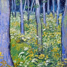 Undergrowth with Two Figures (detail) by Vincent van Gogh | Lone Quixote
