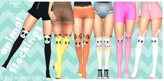 have too many abandoned projects… Adorable animal stockings for your sims; Female teen - elder 6 different swatches Base game compatible Recolours allowed - it's nothing special; edit of base game socks. Don't re-upload/claim my content and no. Maxis, Sims 4 Cas, My Sims, Sims 4 Anime, The Sims 4 Cabelos, Sims4 Clothes, Sims 4 Mm Cc, Sims Games, Sims 4 Clothing