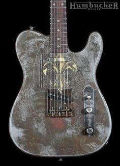 Trussart Steelcaster Rust-O-Matic w/ Fleur de Lys   Humbucker Music