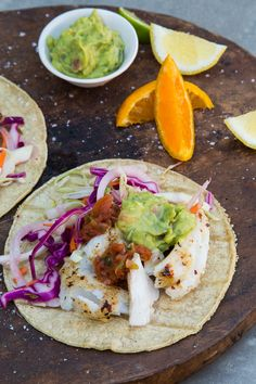 Perfect Fish Tacos with Curdito - a cabbage slaw