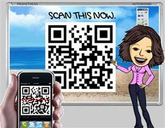 using QR codes to link to information (in printed material this works like a link - for those who have a smartphone or iPad)