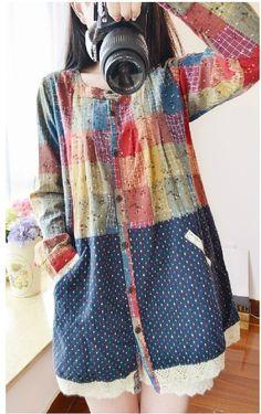 2015 primavera verano nuevas mujeres ropa coreana camisa de lino a cuadros color de costura de impresión floral blusa tops para mujer moda para mujer en Blusas y Camisas de Moda y Complementos Mujer en AliExpress.com | Alibaba Group