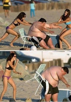 Funny People at Beach