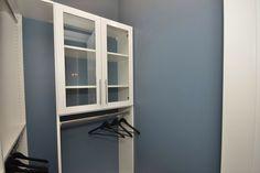 Custom Cabinet Fronts in Closet Custom Closet Design, Custom Closets, Cabinet Fronts, Master Bedroom Closet, Small Closets, Custom Cabinets, Tall Cabinet Storage, Shelving, Shelf