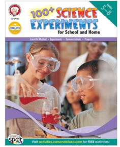 100+ Science Experiments for School and Home is a great addition to any science classroom and allows students to explore topics such as the weather, the Earth's surface, water, airplanes, rockets, time, place, and more!