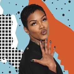 Teyana Taylor Reveals How Long She Waited For Iman To See Her: Hair Tied Chillin' with No Makeup On Cute Hairstyles For Short Hair, Pixie Hairstyles, Black Women Hairstyles, Short Hair Cuts, Easy Hairstyles, Hairstyles 2016, Pixie Cuts, Pixie Haircuts, Beautiful Hairstyles