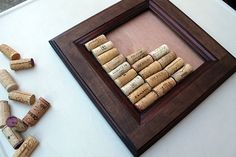 Wine Cork Bulletin Board Kit  made from reclaimed wood #teamfest #craft